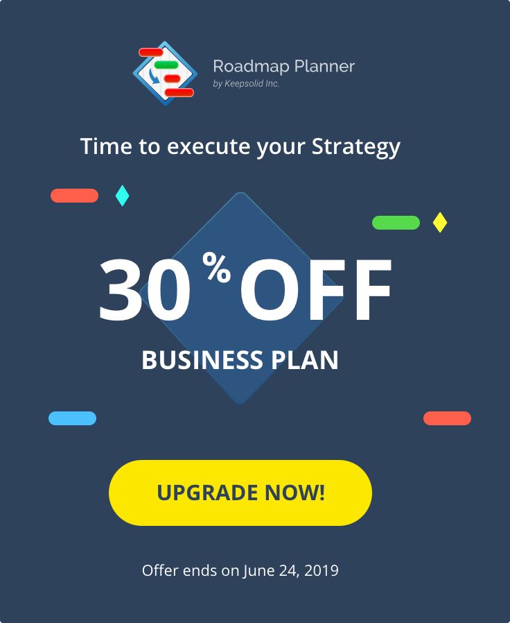 Discount for Business Plan of Roadmap Planner